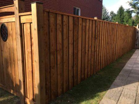 wood fence jay fencing