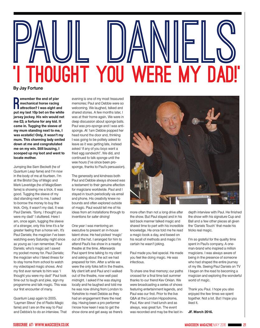 Jay Fortune Daniels Article