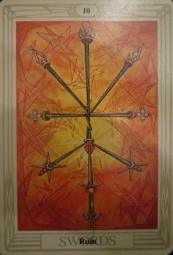 Thoth Deck - 10 of Swords