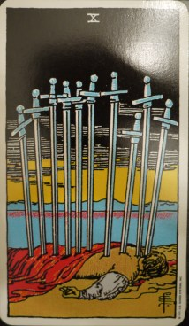 10 of Swords - Rider Waite Deck