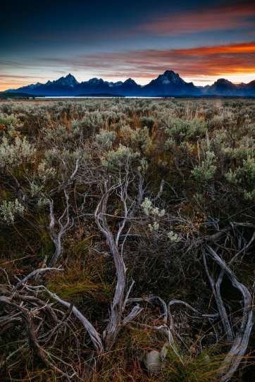 Teton Photo Adventures - Sunset Tetons Autumn Wyoming