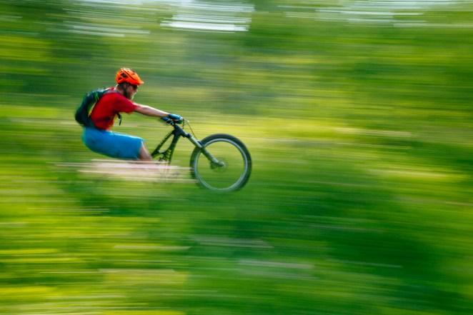 Tetons Mountain Biking Summer Green Wyoming