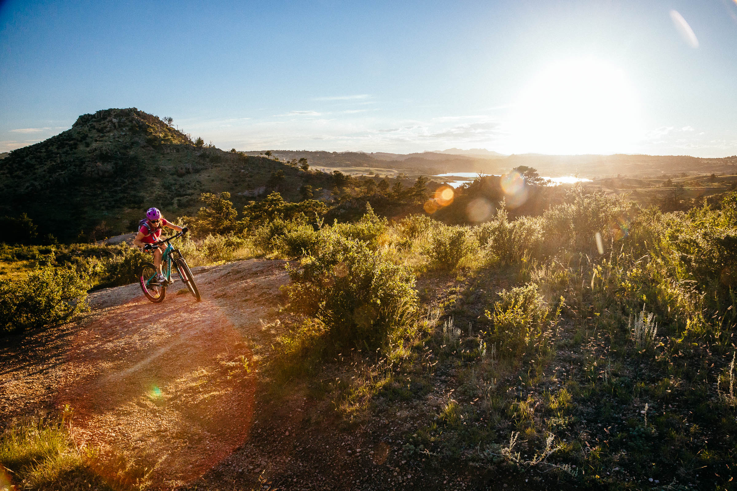 Heather Goodrich rides the Middle Kingdom Trail in Curt Gowdy State Park in Eastern Wyoming
