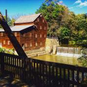 Pine Creek Grist Mill at Wildcat Den State Park-Muscatine