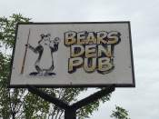 The Bears Den is located at 101 West 1st Street in Leon. You can't miss it!