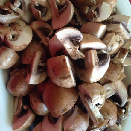 16oz Baby Bella mushrooms rinsed and quartered.