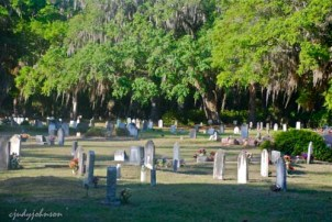 The well-kept African American cemetery on the island in Hog Hammock. Some graves date back centuries.