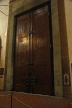 interior of the Santa Croce doors.