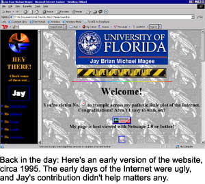 Jay's Website, Circa 1995