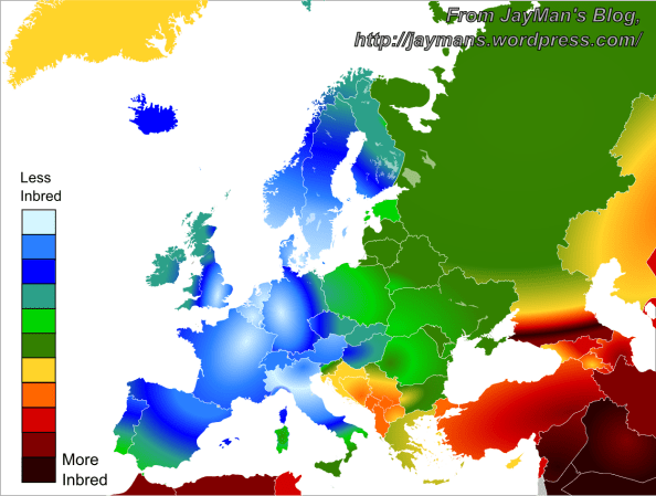 How Inbred are Europeans JayMans Blog
