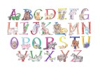 5x7 animal alphabet