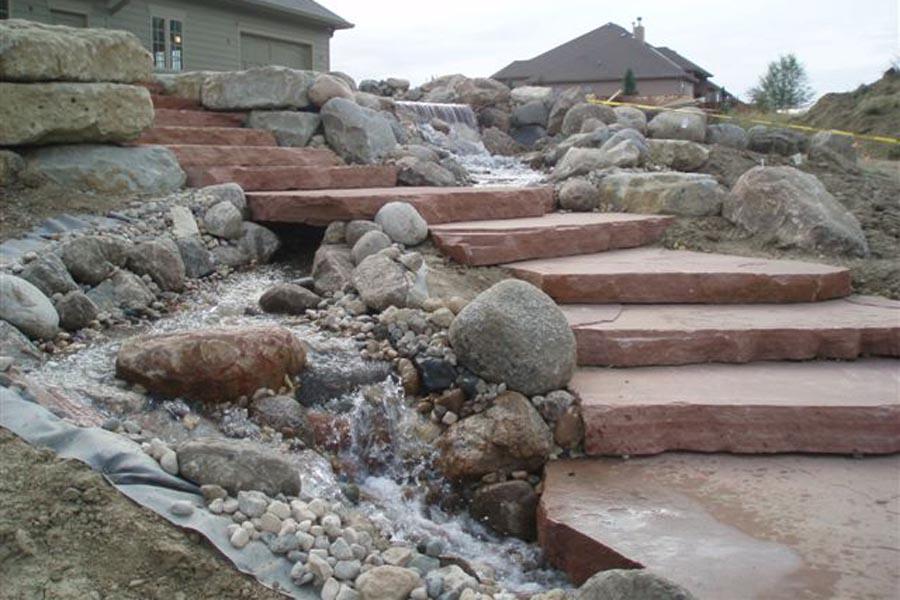 Flagstone Slab Steps