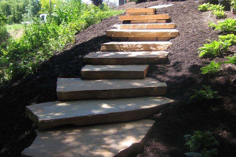 Peach Slab Steps w/ Terraces