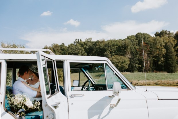 Jayna Biery Photography / Jayna Watkins Photography / Tennessee Wedding + Lifestyle Photographer Based in Knoxville, Tennessee / Knoxville, Tennessee Wedding / Knoxville Engagement Session / Knoxville Wedding Photographer / Tennessee Engagement Session / Tennessee Wedding Photographer / TN Engagement Session / TN Wedding Photographer / Knoxville Engagement Photographer / TN Elopement / TN Modern Wedding / Modern Wedding / Wedding Jumpsuit / Wedding Jeep / Jeep Photoshoot / Antique Jeep / Antique Car Photoshoot / Wedding Antique Car