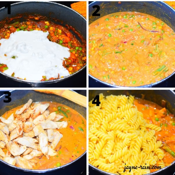 chicken curry pasta