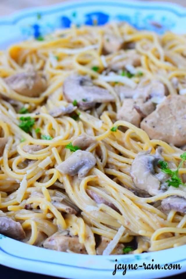 chicken spaghetti alfredo