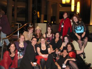 A motley assortment of authors and readers