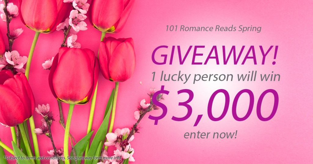 Big Romance Author $3,000 Spring Giveaway April 1-30th, 2016.