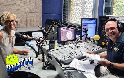 Jaynie Morris Catching up on Roy Garreffa's Morning Radio Program on CoastFM88.7