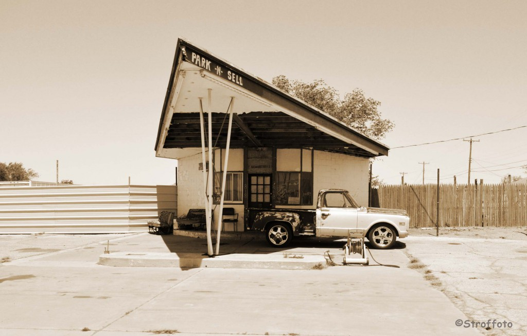 Old Filling Station Route 66 texas