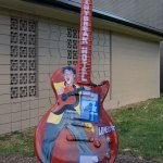 Guitar Statue outside Studio B