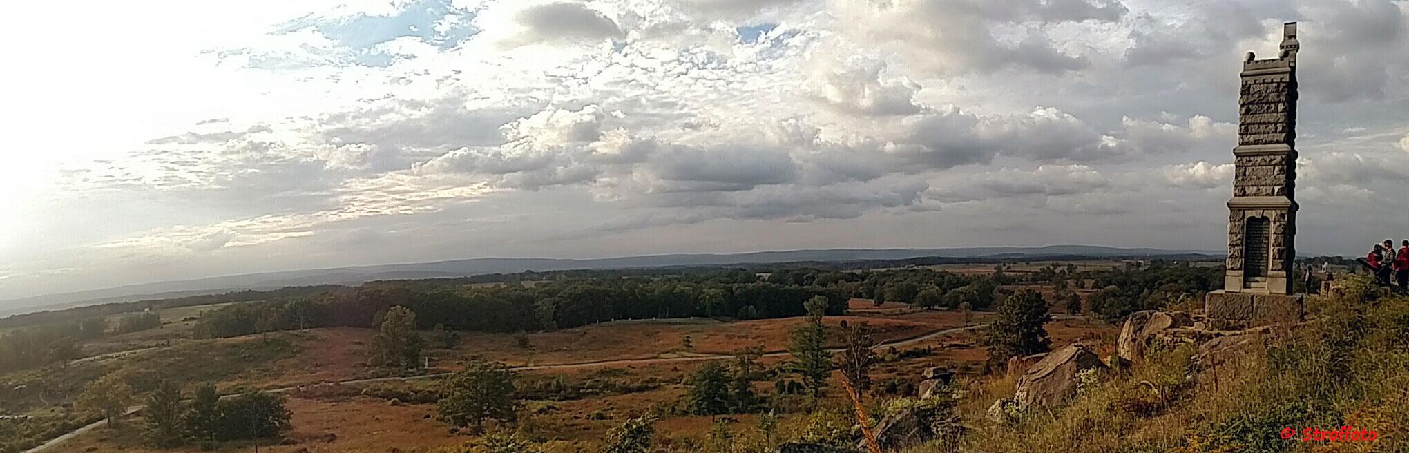 View of Gettysburg Battlefield