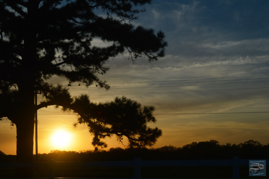 Sunset on Route 66 in Missouri