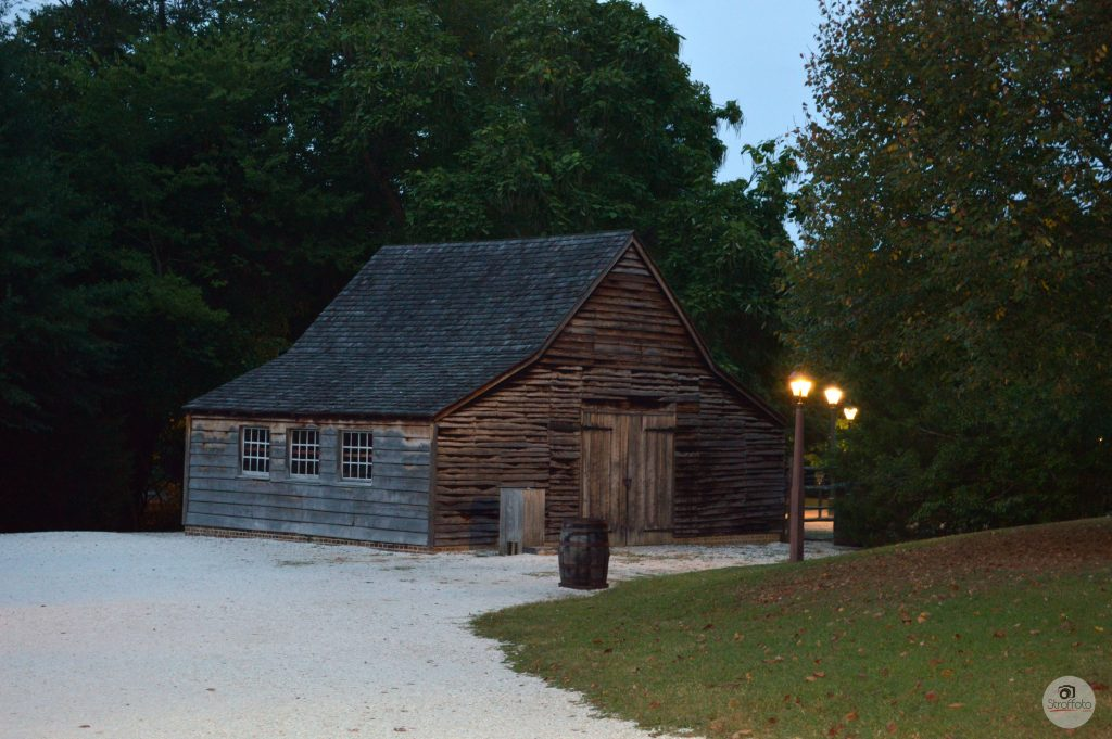 Old Barn at Dusk, Colonial Williamsburg