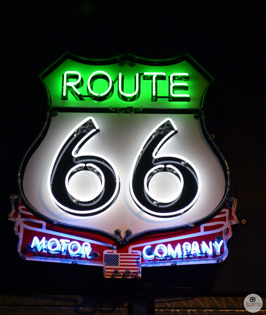 Route 66 Motor Company Neon Sign
