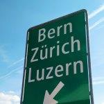Highway Sign in Switzerland