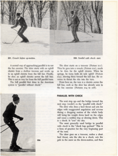 1972 - Photos of instructor from Cannon Mtn., NH, demonstrating Parallel Turn with Check and pole use - 2