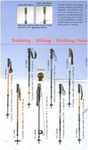 2009 Trekking/Hiking/Walking poles