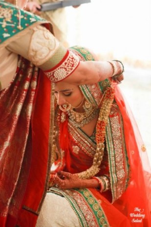 Gujarati bride the wedding salad on Wedmegood