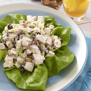 Silver Palate's Tarragon Chicken, Apple, and Walnut Salad with Chopped Greens (for 1)
