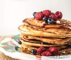 Triple Berry Whole Grain Pancakes (for 4+)