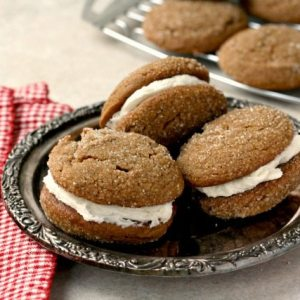 Gingerbread Whoopie Pies (for 1+)
