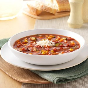 Fire-Roasted Tomato and Country Vegetable Soup (for 2)