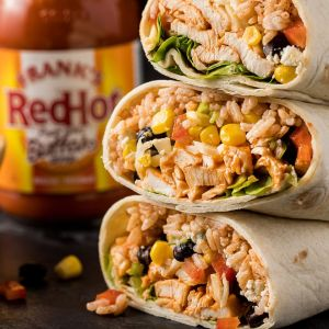 Santa Fe Grilled Chicken Burrito w/ Brown Rice, Pinto Beans, Corn, Cheddar-Jack, Salsa (for 1)
