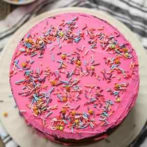 Pink Lemonade Cake with Lemon Buttercream Frosting (for 2)