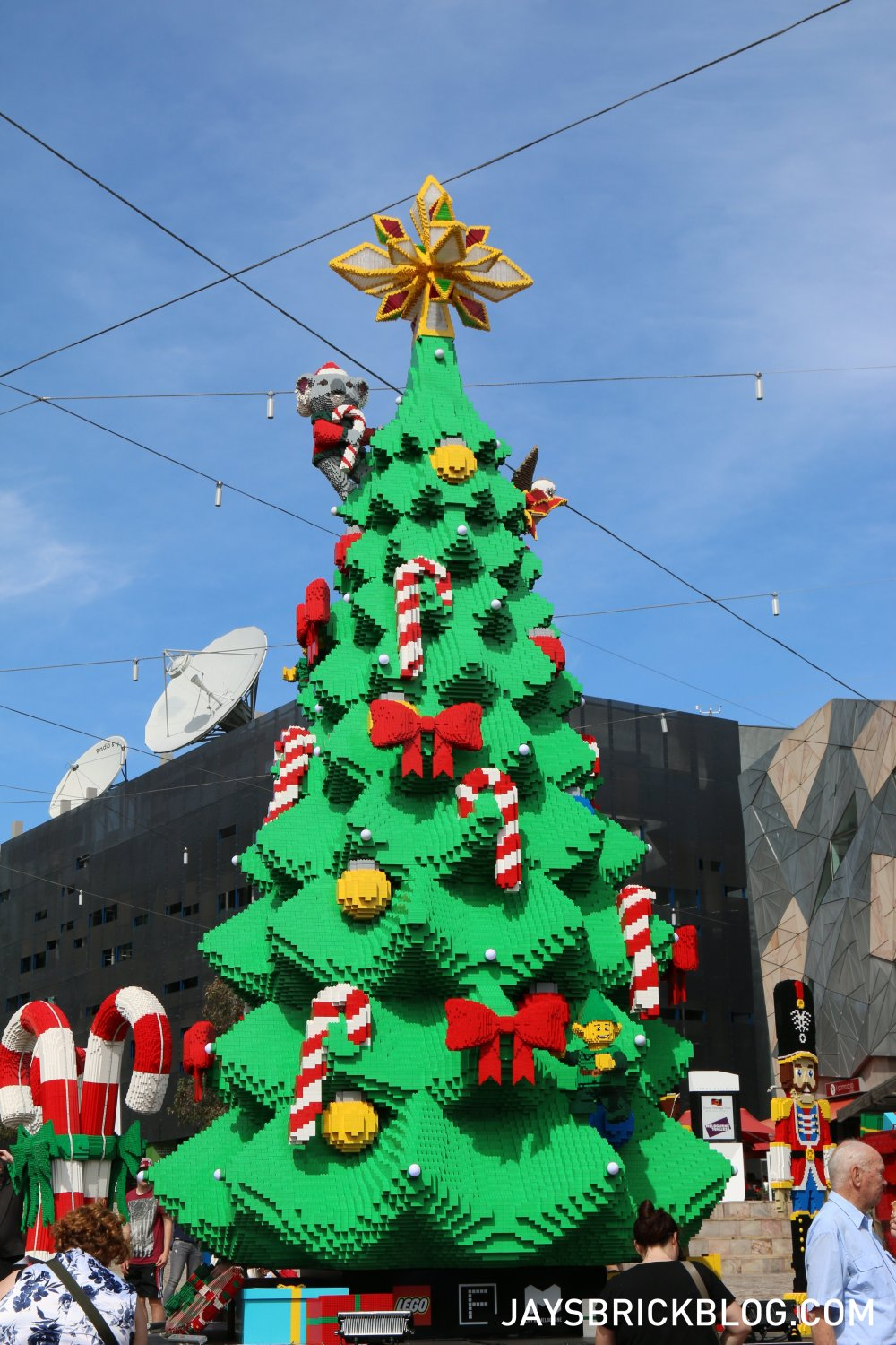 medium resolution of lego christmas tree federation square melbourne tree during the day