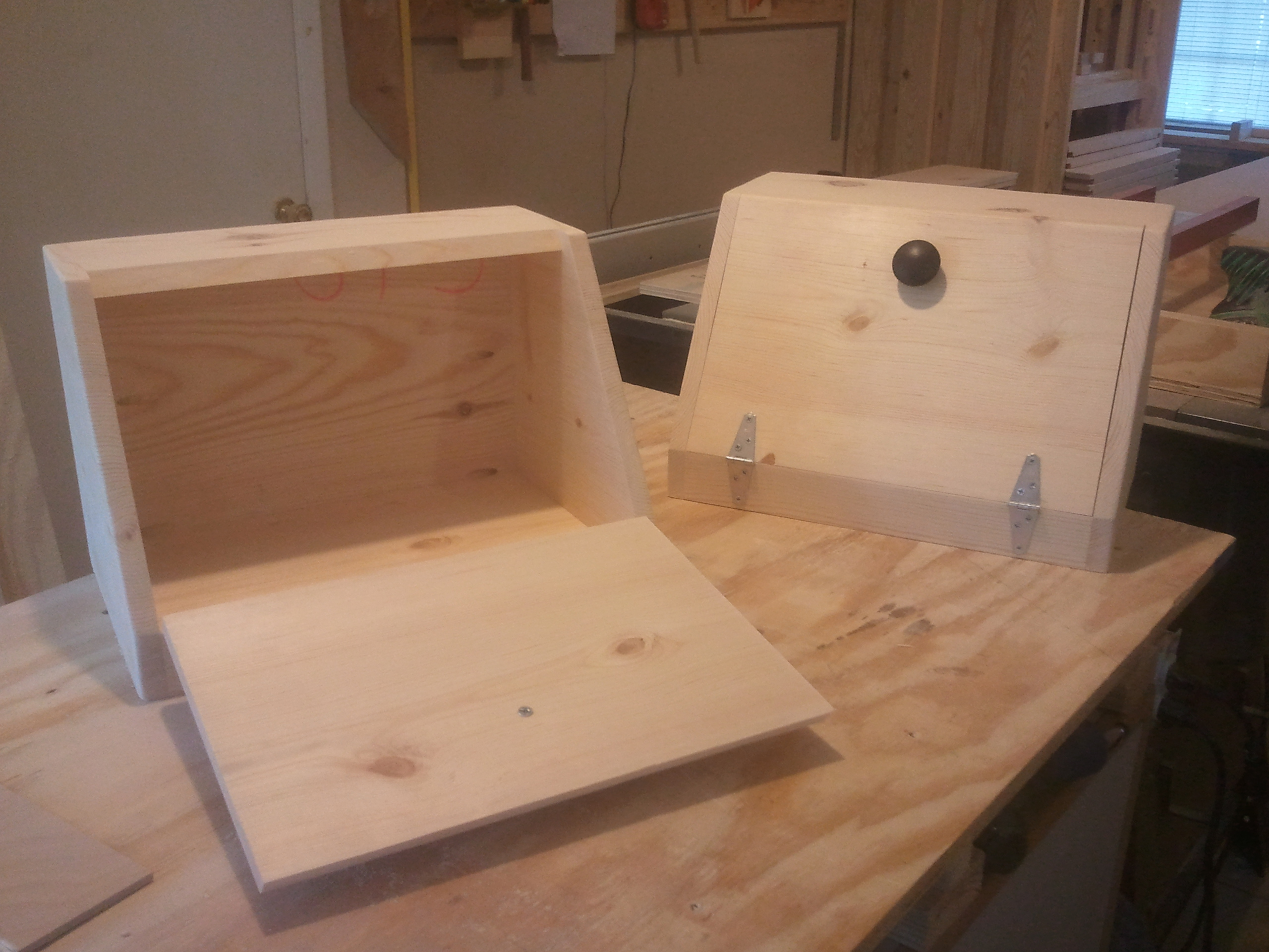 A Pair Of Bread Boxes And Matching Trash Can Jays Custom