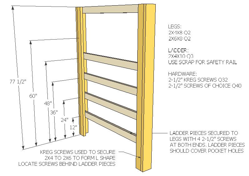 2×4 Bunk Bed Dimensions
