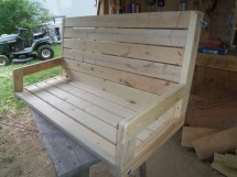 Randy Whittemire 2 4 Porch Swing Jays Custom Creations