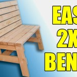 How To Build A Comfortable 2 4 Bench And Side Table Jays Custom Creations