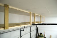 Adding Storage Above The Garage Door   Jays Custom Creations