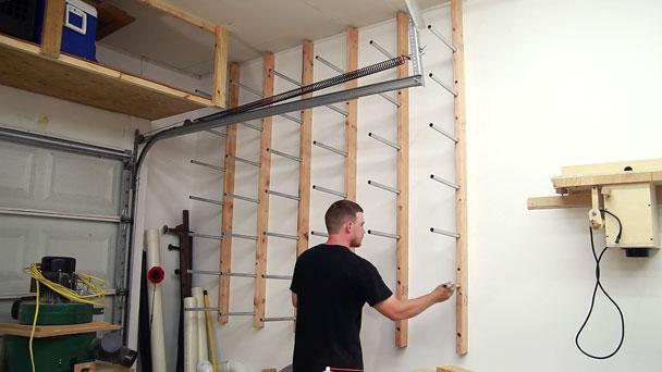 Vertical Lumber Storage Ideas