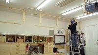Ceiling-Supported Garage Shelves : BeginnerWoodWorking