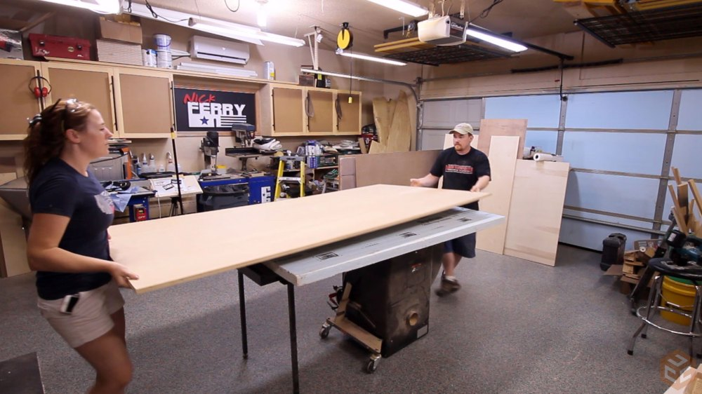 medium resolution of making the first cut on a full sheet of plywood with a circular saw results in two much more manageable sized pieces that can be cut more accurately at the
