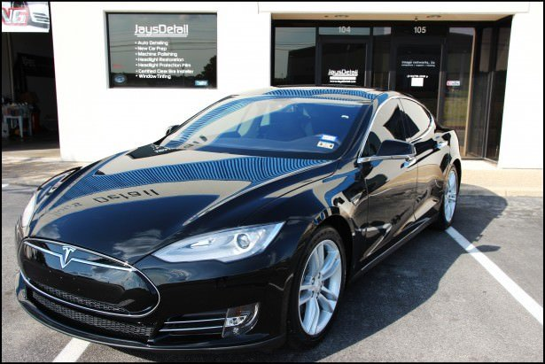 Tesla Model S Gets Ceramic Coating Suntek Window Tint