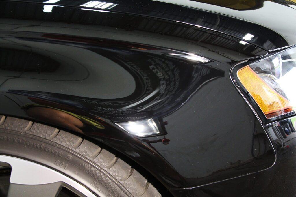 Audi S4 fender after